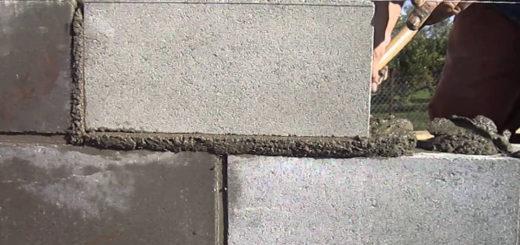 Этапы кладки стен из керамзитобетонных блоков