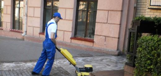 Чем отмыть тротуарную плитку