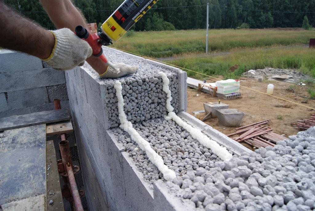 Стены из керамзитобетонных блоков своими руками видео