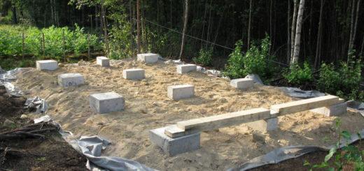 Технология установки фундаментные блоков под бытовку