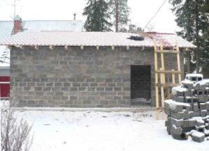 Технология постройки гаража из керамзитобетонных блоков