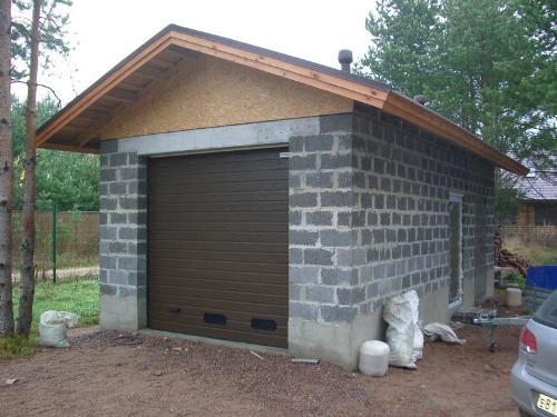Как построить гараж из блоков своими руками