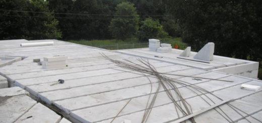 Укладка газосиликатных плит перекрытия