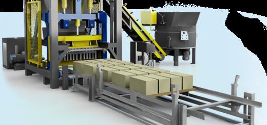 Устройство линии по производству керамзитобетонных блоков