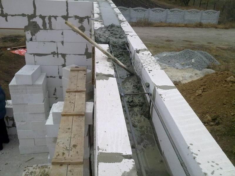 Монолитный пояс под плиты перекрытия - железобетонные констр.