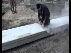 Как отрезать плиту перекрытия