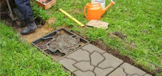 Этапы приготовления раствора для тротуарной плитки