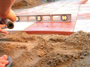 Песчано цементная смесь для укладки тротуарной плитки