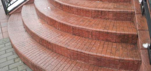 Монтаж ступеней из тротуарной плитки