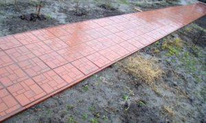 Порядок укладки полимерной плитки на основание из песка и щебня