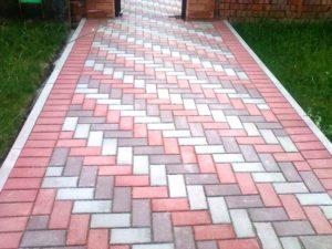 Укладка тротуарной плитки – варианты