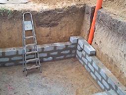 Этапы строительства погреба из керамзитобетонных блоков