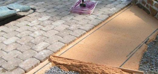 Правильная подушка для тротуарной плитки