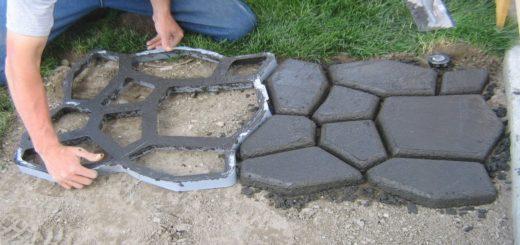 Как самостоятельно, какизготовить, тротуарная плитка
