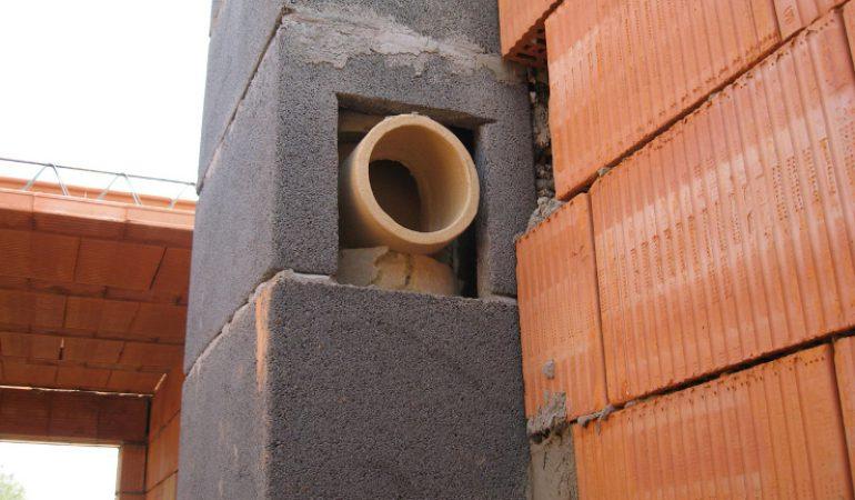 Блоки под дымоходы кладка облицовки камина